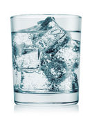 Glass of cold water with gas — Stock Photo
