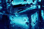 Fundo um fragmento de cubos de gelo — Fotografia Stock