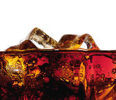 Detail of a glass of cola with ice — Stock Photo