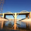 Sixth Street Viaduct on the Los Angeles River — Stock Photo