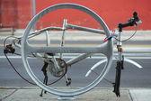 New Style New York City Bicycle Rack — Stock Photo