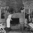 Cooking outdoors — Foto Stock