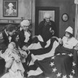 Admiring the Betsy Ross flag - Stockfoto