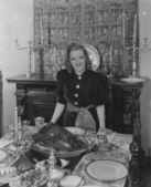 Thanksgiving gastvrouw — Stockfoto