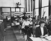 Trabajadores de la fábrica en el trabajo — Foto de Stock