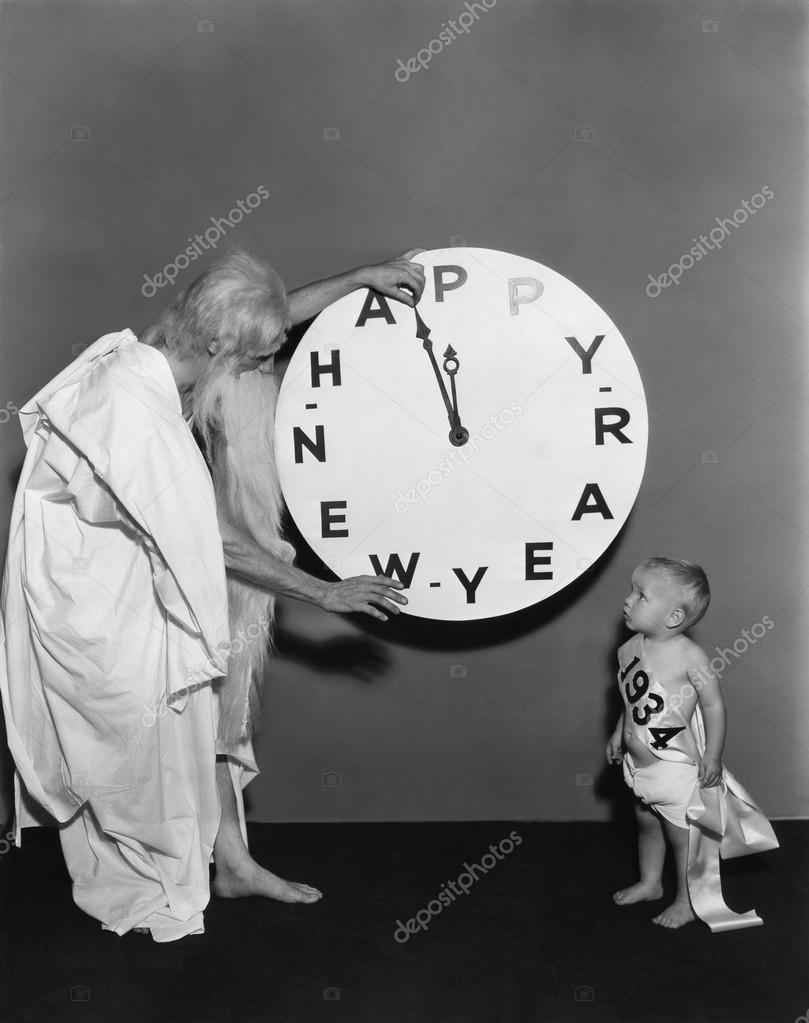 Father time speeds up the New Year — Stock Photo #17831631