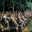 Medieval soldiers getting into position for battle — Wideo stockowe #26623449