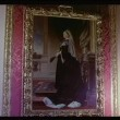 Close-up painting of Queen Victoriin gilded frame on wall — Stock Video #26624377