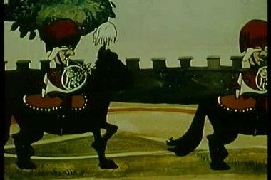 British military band on horseback — Stock Video
