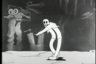 Cartoon of break dancing ghost — Stock Video