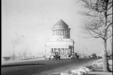 Grants Tomb, New York City, 1930s — ストックビデオ