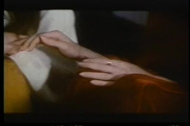Close-up of female hands caressing another woman's hands — Stock Video