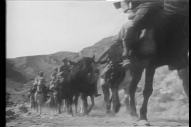 Historical reenactment of Foreign Legion in Morocco — Stock Video
