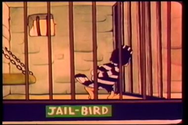 Cartoon jail bird — Stock Video