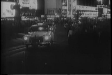 Times Square, New York City 1940s — Stock Video