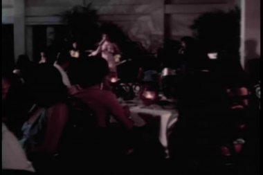 Singer performing in nighclub — Stock Video