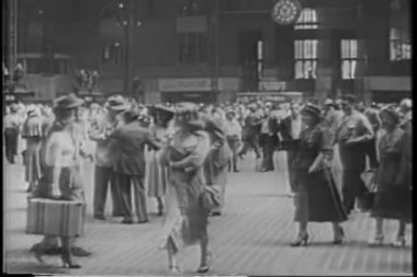 Grand Central Station in the 1940s — Stock Video