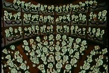 Publiek in theater applaudisseren — Stockvideo