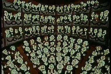 劇場の称賛の聴衆 — ストックビデオ