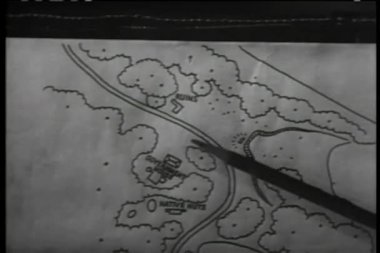 Close-up of person reviewing military map — Stock Video