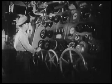 Nave volante marinero — Vídeo de Stock