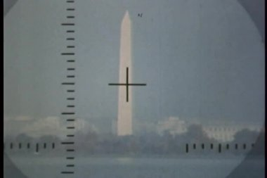 Periscope view of obelisk — Stock Video