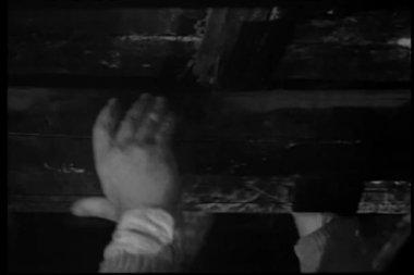 Man falling off balcony — Stock Video