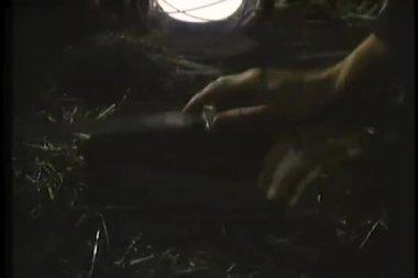 Groupe de placer leurs mains sur le dessus de couteau en allégeance — Vidéo