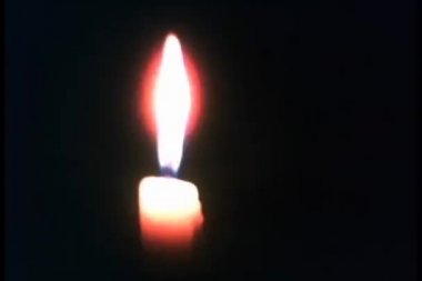 Close-up of candle flame — Stock video
