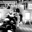 Stock Video: Rear view of passengers boarding showboat