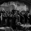Stock Video: Applauding band in 1940s nightclub
