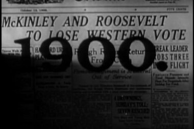 Front cover of newspaper from 1900 — Stock Video
