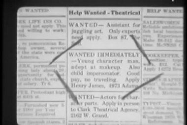 Close-up of marked classified ad in newspaper — Stock Video