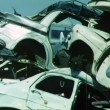 Stock Video: Junkyard filled with cars