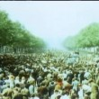 Stock Video: Crowd celebrating liberation on Champs Elysees at end of World War II