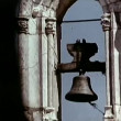 Stock Video: Medieval church bell ringing