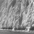 Soldiers on horseback riding through mountain — 图库视频影像
