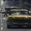 Stock Video: Taxi driving on New York City street