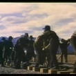 Stock video: Men building railroad
