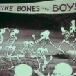Cartoon of dancing skeletons — Stock Video