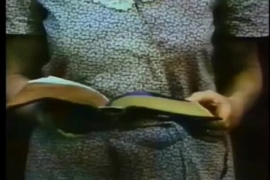 Close-up of woman reading bible — Stock Video