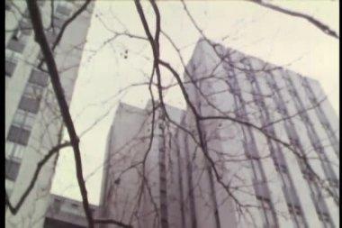 Panamericana de edificios en la ciudad — Vídeo de Stock