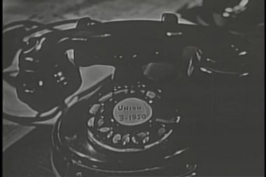 Close-up of rotary telephone — Stock Video
