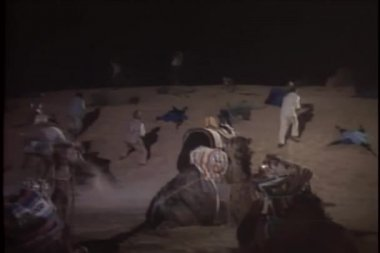 Shootout in desert at night