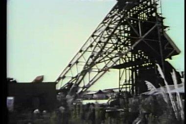 Montaje mina abandonada — Vídeo de Stock