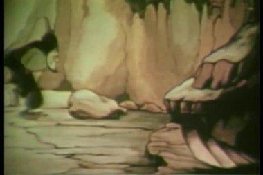 Arabian man pacing in cave — Wideo stockowe