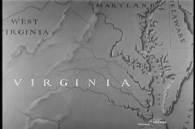 Map of Virginia — Stock Video #26663691