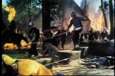 Viking invasion — Stock Video