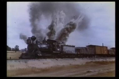 Explosion near moving locomotive
