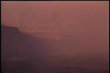 Boat in storm — Stock Video